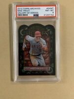MIKE TROUT 2013 TOPPS ARCHIVES GALLERY OF HEROES STAINED GLASS DIE CUT PSA 8