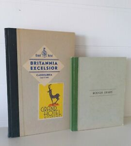 Vintage Original Journal Business Ledger Book Accounts and Diary