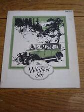 OVERLAND WHIPPET SIX BROCHURE, 1927.