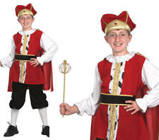 Childrens Kids Medieval King Fancy Dress Costume Henry Viii Tudor Outfit XL