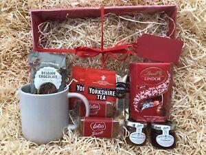 Male Female Birthday Gift Hamper Mug Yorkshire Tea Biscuits Jams Lindt Biscoff