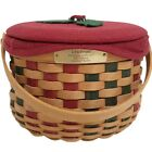 Longaberger 2003 Christmas Caroling Basket+Prot+Lid+Liner~23rd Edition~Christmas