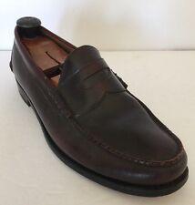 Johnston & Murphy Aristocraft Burgundy Leather Penny Loafers Men's 11EEE