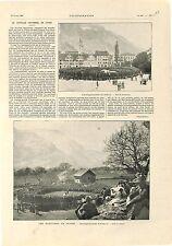 Suffrage Universel Suisse Landsgemeinde de Glaris & d'Altorf  GRAVURE 1902