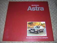 ORIGINAL VAUXHALL ASTRA SALES BROCHURE 1980