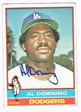 1976 Topps Baseball AL DOWNING autographed LOS ANGELES DODGERS card