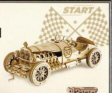 ROKR Wooden 3d Classical Grand Prix Car Scale Model Puzzle Kit MC401