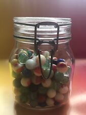 Vintage Mason Jar filled with Marbles