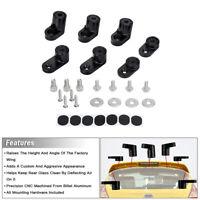 Spoiler Lip Wing Riser Raiser Kit Black For 13-18 Ford Focus ST Hatchback 4Dr
