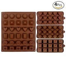 4 X Silicona Fondant Torta Chocolate Para Hornear Galletas Molde Molde Gelatina Bandeja de Horno