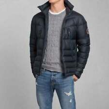 NWT ABERCROMBIE & FITCH A & F Men's PINE POINT TRAIL PUFFER JACKET in NAVY ~ L