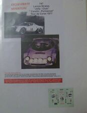 LANCIA STRATOS HF TOUR DE CORSE 1977 TONY CARELLO DECALS EXCLU VIRATE 1/43