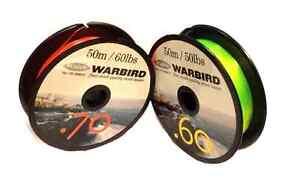 Warbird Shock Leader Sea Fishing Line. Multiplier Reels Beachcaster Rods Rigs