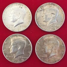 Etats Unis Argent Half Dollar Kennedy lot 1966 1967 1968 1969 silver coin