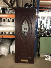 Second Hand UPVC Door Panel, 640mm Wide By 1770mm Height, 28mm Thick, (P451)