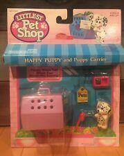 New Vintage Kenner Littlest Pet Shop Happy Puppy Dalmatian Figure & Pet Carrier