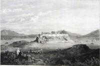 Greece, ATHENS ACROPOLIS PARTHENON TEMPLE Propylaia ~ 1829 Art Print Engraving