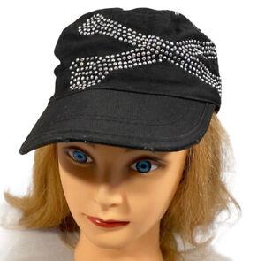 WOMANS FLY-DANNA BLING SKULL & CROSSBONES ADJUSTABLE CAP