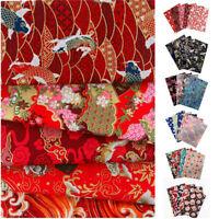 Floral DIY Pre-Cut Fat Quarters Bundle Charm Cotton Quilt Fabric Japanese Style