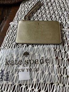 Brand New Kate Spade Large Wristlet. Color - Gold