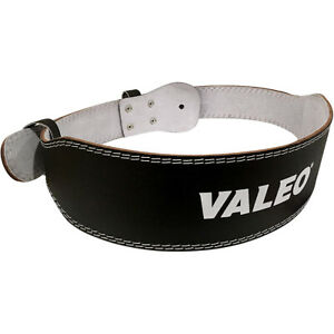 "Valeo 4"" Leather Weight Lifting Belt"