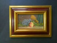 Oil Painting, Fruit, Vintage, Early 20th Century, Signed, Framed, Still Life
