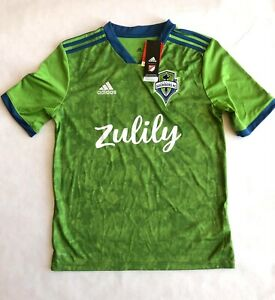 Seattle Sounders 2019/20 Adidas Green Home Kit Youth XL Jersey MLS Shirt NEW