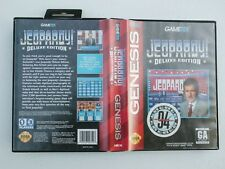 Jeopardy Deluxe Edition Sega Genesis COMPLETE Case Manual and Game Cartridge