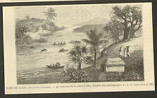 NIGERIA FLEUVE OGUN OYO YARUBA PRINT GRAVURE 1892