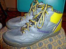 vintage Reebok Sir Jam Hexalite shoes size 11 yellow / gray sneakers hightops