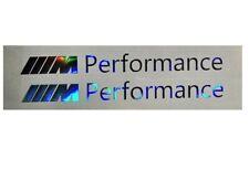 2 M Performance Aufkleber  Oilslick Hologramm Power 134 mm silber M Power BMW