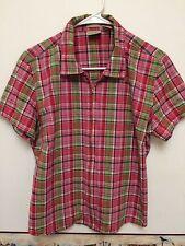 Womens Zippered  Checkered Shirt by FIORLINI INTERNATIONAL Stretch  Size Large