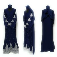 Femme Fermé devant Abaya.maxi Dress.saudi Long Abaya.farasha Jilbab Burka