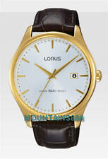 LORUS Watch, Stainless Steel, Date, WR50, Gold Tone, Mens, RS960CX-9