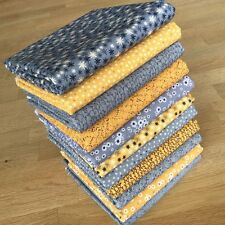 Matilda Jumbo Fat Quarter Bundle DRK grau senf gelb Indigo Quilting Fabrics