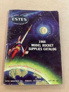 1966 ESTES Rocket Catalog Good Condition - Vintage