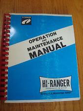 Hi-Ranger 12-125I Operation and Maintenance Manual Hi Ranger