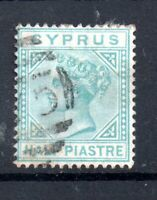 Cyprus QV 1881 1/2pi emerald green SG11 fine used WS20043