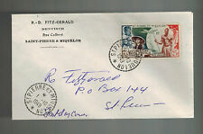 1949 St Pierre Miquelon First Day cover FDC Local UPU Dentist R D Fitzgerald C18