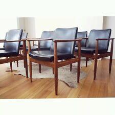 8 mid century PARKER Dining Chairs DANISH Wegner FLER Scandinavian VINTAGE