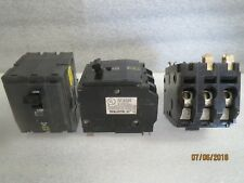 SQUARE-D-60AMP-(2)50A-& 40A 3-POLE-3P-240V-240VAC-CIRCUIT-BREAKERS (4) NEW