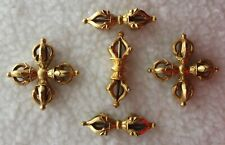 More details for mid 20th c. vajra's handmade bronze 24 karat gold plated founded in lhasa, tibet