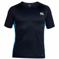 Canterbury Mens Core VapoDri Superlight Poly Small Logo Quick Dry T-Shirt Navy