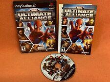 Marvel Ultimate Alliance Playstation 2 PS2 Black Label Game Complete!