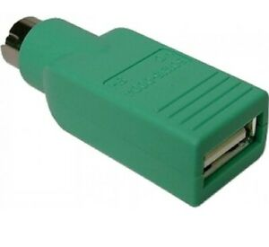 USB FEMALE TO PS2 PS/2 MALE ADAPTOR CONVERTER ADAPTER PC LAPTOP MOUSE KEYBOARD