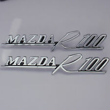 MAZDA R100 badges x2, New, for Rotary Rotor Coupe 12A 13B 10A 1200 1300 1600