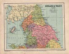1934 MAP ~ NORTHERN ENGLAND & WALES ~ YORK SURHAM CUMBERLAND etc