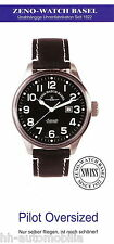 0001ZW Zeno-Watch Prospekt 2001 11/01 Basel Pilot Oversized Armbanduhr brochure