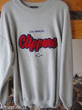 New * LOS ANGELES CLIPPERS Embroidered APPLIQUE Gray SWEATSHIRT * XL / 2XL / XXL