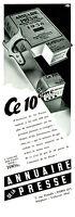 Publicité ancienne annuaire de la presse 1938 issue de magazine